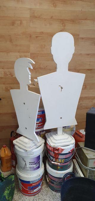 Lote 2 maniquís bustos de madera
