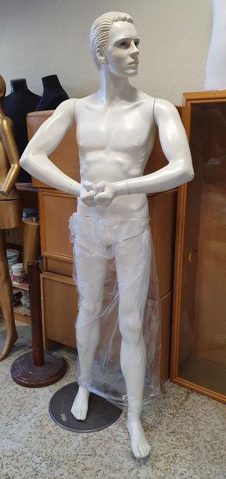 Maniqui de hombre desmontable con peana