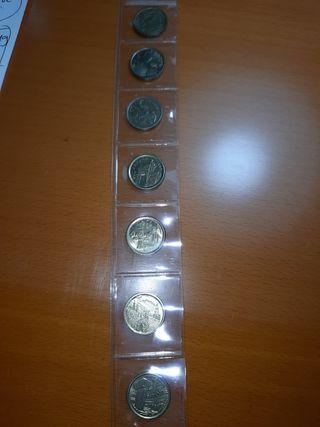 monedas 5 pts años 90 8 monedas