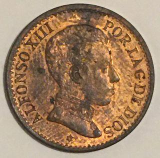 Moneda España 1 céntimo de peseta 1906