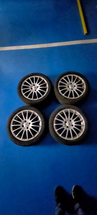 4 llantas 17 pulgadas con neumáticos Bridgestone