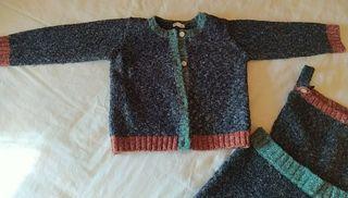 Conjunto peto chaqueta lana Gocco 18-24 meses