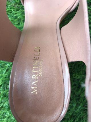Sandalias de tacón Martinelli color rosa palo