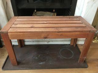 Banco de madera de teka
