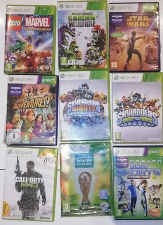 surtido de juegos Xbox 360