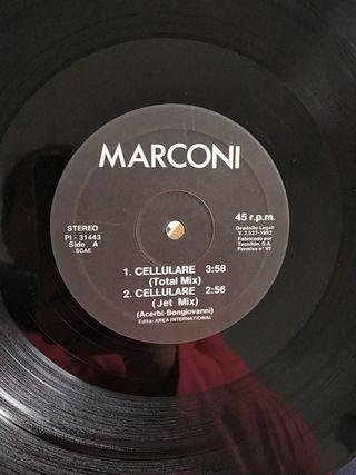 Vinilo maxisingle Marconi cellulare