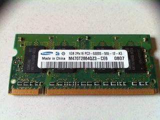 Memoria RAM DDR2 1GB Samsung para portátil SO-DIMM