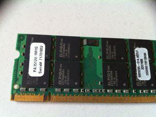 Memoria RAM DDR2 1GB Micron para portátil SO-DIMM