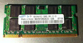 Memoria RAM DDR2 1GB para portátil (SO-DIMM)