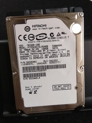 Disco duro 2,5 160Gb marca Hitachi