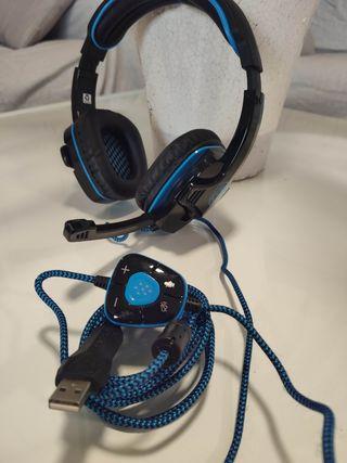 Auriculares Gaming GHB Sades