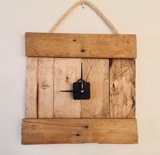 reloj pared decorativo madera palet reciclada