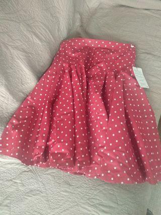 falda vintage,lunares