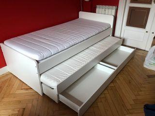 cama niño doble con cajones