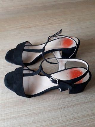 sandalias negras mujer N°37