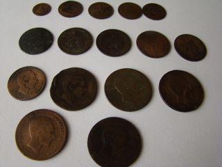 MONEDAS ANTIGUAS (piezas de cobre)