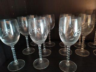 11 copas de vino de cristal