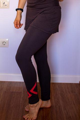 Falda pantalón térmica de Mujer pádel, Gym, Tenis