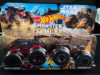 Hot Wheels Monster Trucks Pack Doble Star Wars.