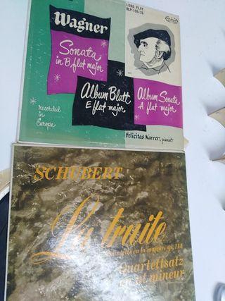 Antiguos vinilos USA Wagner, Schubert