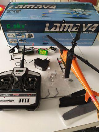 LAMAV4 E SKY helicóptero electrico radio control