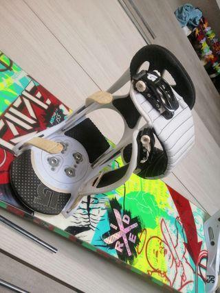 snowboard con fijaciones
