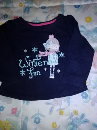 camiseta de manga larga de niña winterful