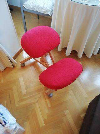 silla ergonómica con fundas hechas a mano regalo
