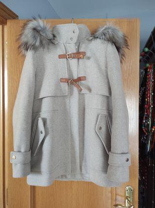 Abrigo paño Zara color crema