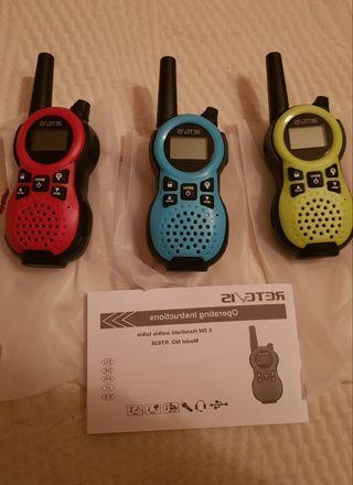 juego de 3 walkie talkies a estrenar
