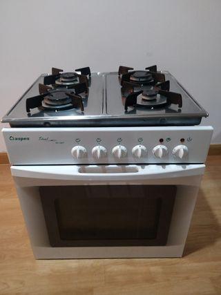 Cocina a gas natural con Horno eléctrico Aspes