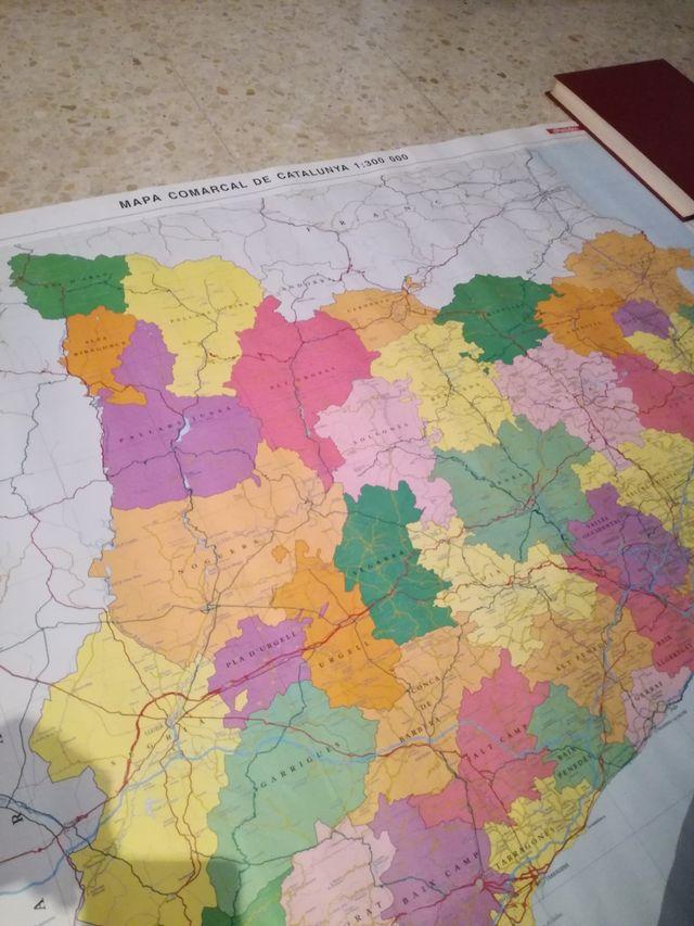 Mapa comarques Catalunya