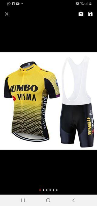 vendo equipacion ciclismo jumbo nueva