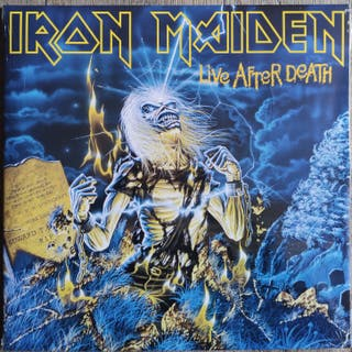 """IRON MAIDEN """"Live after death"""" (2 LPs)"""