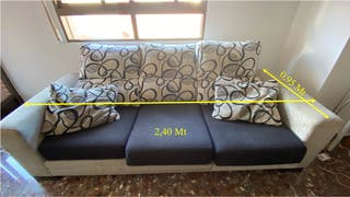Sofa 3 plazas extensible