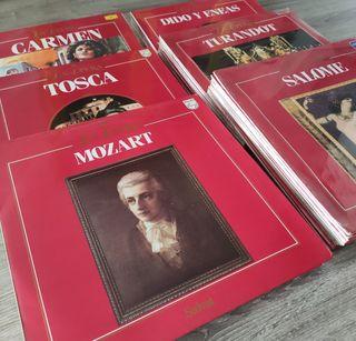 Colección de vinilos La Ópera de Ed.Salvat, 1985
