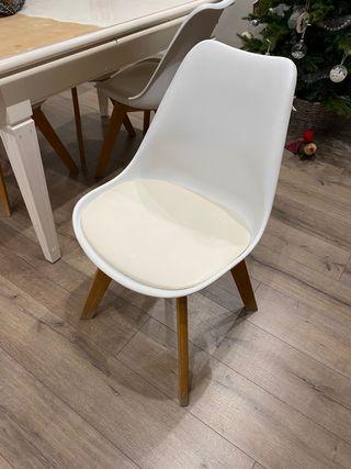 Conjunto 4 sillas ICE de Maisons Du Monde