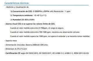 Medidor de CO2 HOMOLOGADO
