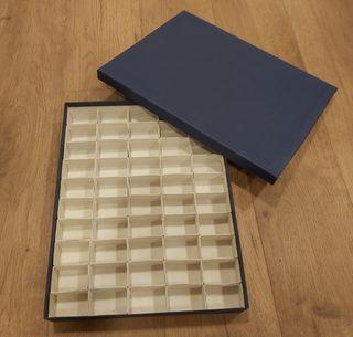 Caja de cartón duro para coleccion 50 minerales