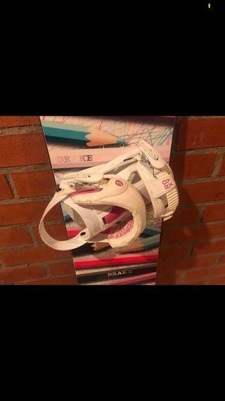 Fijaciones Roxy snowboard M como nuevas