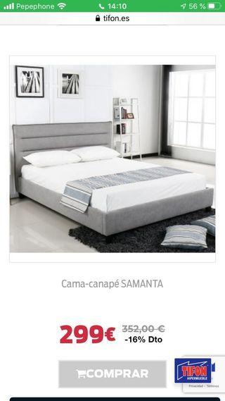 CAMA-CANAPE SAMANTA.