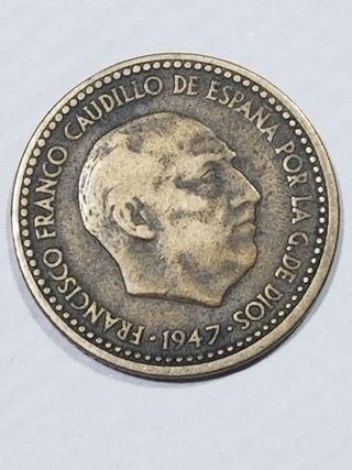 moneda peseta rubia 1947