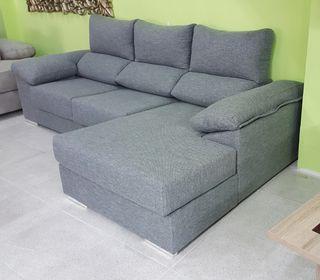 RENOVACIÓN Sofá chaiselongue color gris