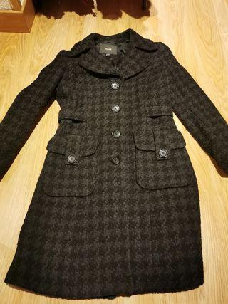Abrigo de paño gris y negro mexx t34