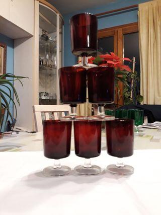 6 copas de vino cristal francés