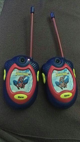 walkie talkie de Spider-Man Lexiboock
