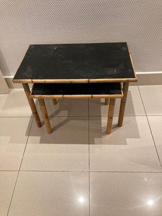 Mesas bajas bambú