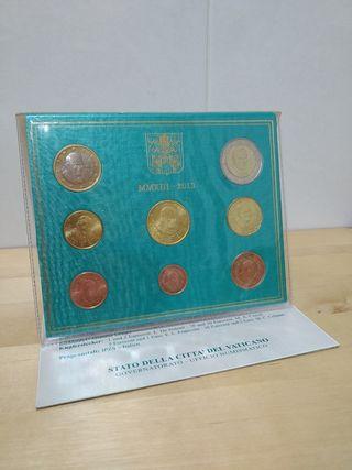 Monedas Vaticano 2013 BU Desde 1 cntm. a 2 euros