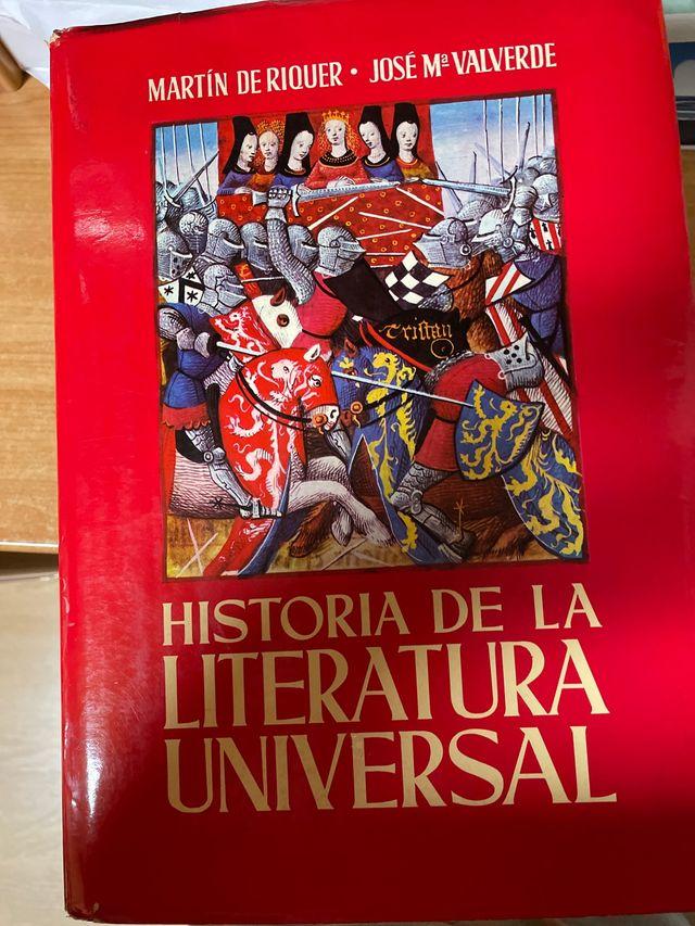 Historia de la literatura universal 3 tomos
