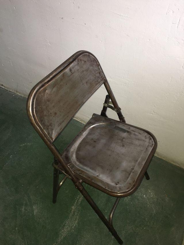 Silla plegables de acero vintage